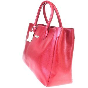 BALENCIAGA BB Logo Tote Hand Bag Leather ReD
